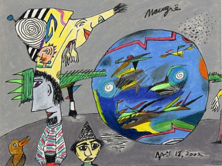 """my drawing """"Art Therapy for a Sick World"""""""