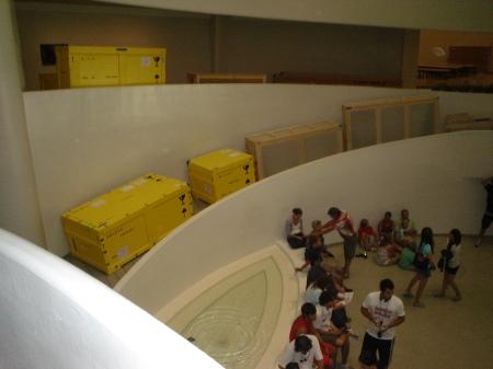 at the Guggenheim Museum